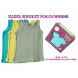 Harga Kazel Singlet Polos Warna 6In1 Size S Lengkap