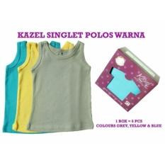 Harga Kazel Singlet Polos Warna 6In1 Size S Termahal