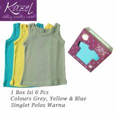Spesifikasi Kazel Singlet Polos Warna Isi 6 Pcs Xxl Baru