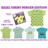 Review Tentang Kazel Tshirt Baby Boy Burger Edition 4In1
