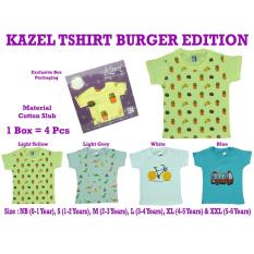 Kazel Tshirt Baby Boy Burger Edition 4In1 Original