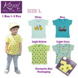 Beli Kazel Tshirt Boy Burger Edition Isi 4 Pcs L Indonesia