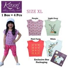 Harga Kazel Tshirt G*rl Butterfly Edition Isi 4 Pcs Xl Dan Spesifikasinya