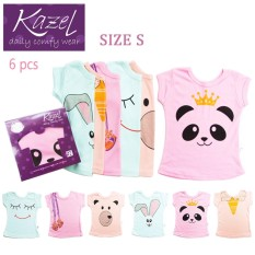 Harga Kazel Tshirt G*rl Panda Edition Isi 6 Pcs S Kazel Ori