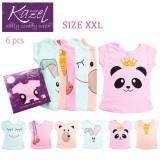 Harga Kazel Tshirt G*rl Panda Edition Isi 6 Pcs Xxl Yang Murah