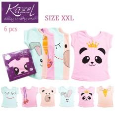 Dapatkan Segera Kazel Tshirt G*rl Panda Edition Isi 6 Pcs Xxl