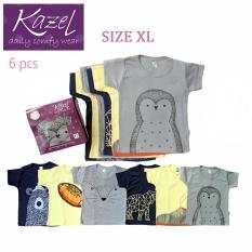 Kazel Tshirt Penguin Edition Isi 6 Pcs Xl Asli