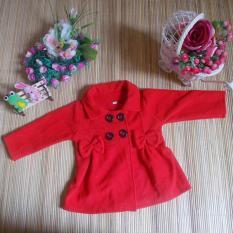 Harga Kembarshop Jaket Bayi Mantel Bayi Hangat Lembut Merah 12 Bulan Kembarshop Original