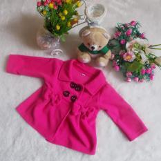 Kembarshop Jaket Bayi Mantel Bayi Hangat Lembut Pink 1 2 Tahun Original