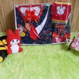 Promo Kembarshop Paket Kado Bayi Setelan Baju Rompi Dasi Merah Plus Set Topi Sepatu Rajut