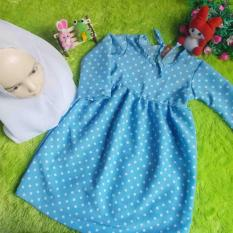 Beli Kembarshop Set Gamis Bayi Polka Soft Blue Plus Khimar 1 2 Tahun Cicil