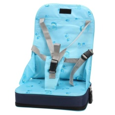 Kid Bayi Kursi Makan Kursi Tinggi Seat Harness Bag Cushion Pad Booster Portable Blue-Intl