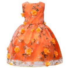 Harga Kid Gadis Floral Pesta Pernikahan Putri Kontes Musim Panas Gaun Intl Vakind Ori
