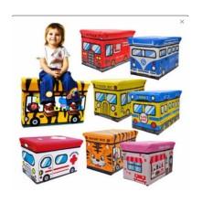 Dapatkan Segera Kid Storage Box Bus Kotak Peyimpanan Mainan