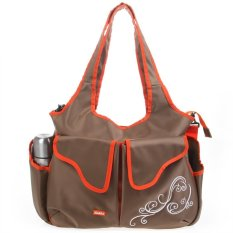 Jual Kiddy 2In1 Diaper Bag Kd5098 Cokelat Branded Murah