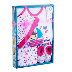 Kiddy Baby Gift Set Kapal Laut Pink 11162 - Perlengkapan Baju Bayi Satu Set