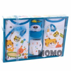 Review Kiddy Baby Gift Set Little Cat 11169 Biru Set Pakaian Bayi Motif Kucing Di Indonesia