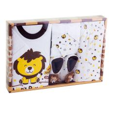 Kiddy Baby Gift Set Motif Lion Coklat 11167 Perlengkapan Baju Bayi Satu Set Motif Singa Jawa Barat Diskon