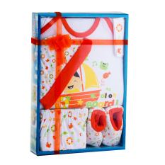 Jual Kiddy Baby Gift Set Nelayan Orange 11162 Satu Set Baju Perlengkapan Bayi Branded Murah