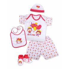 Harga Kiddy Baby Gift Set Pilot Pink 11163 Set Pakaian Bayi Seken