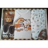Review Kiddy Baby Set 11148 Baju Celana Topi Dan Sepatu Bayi Di Banten