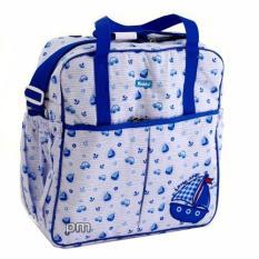 Kiddy Diaper Bag Bordir Motif Biru - Tas Perlengkapan Bayi