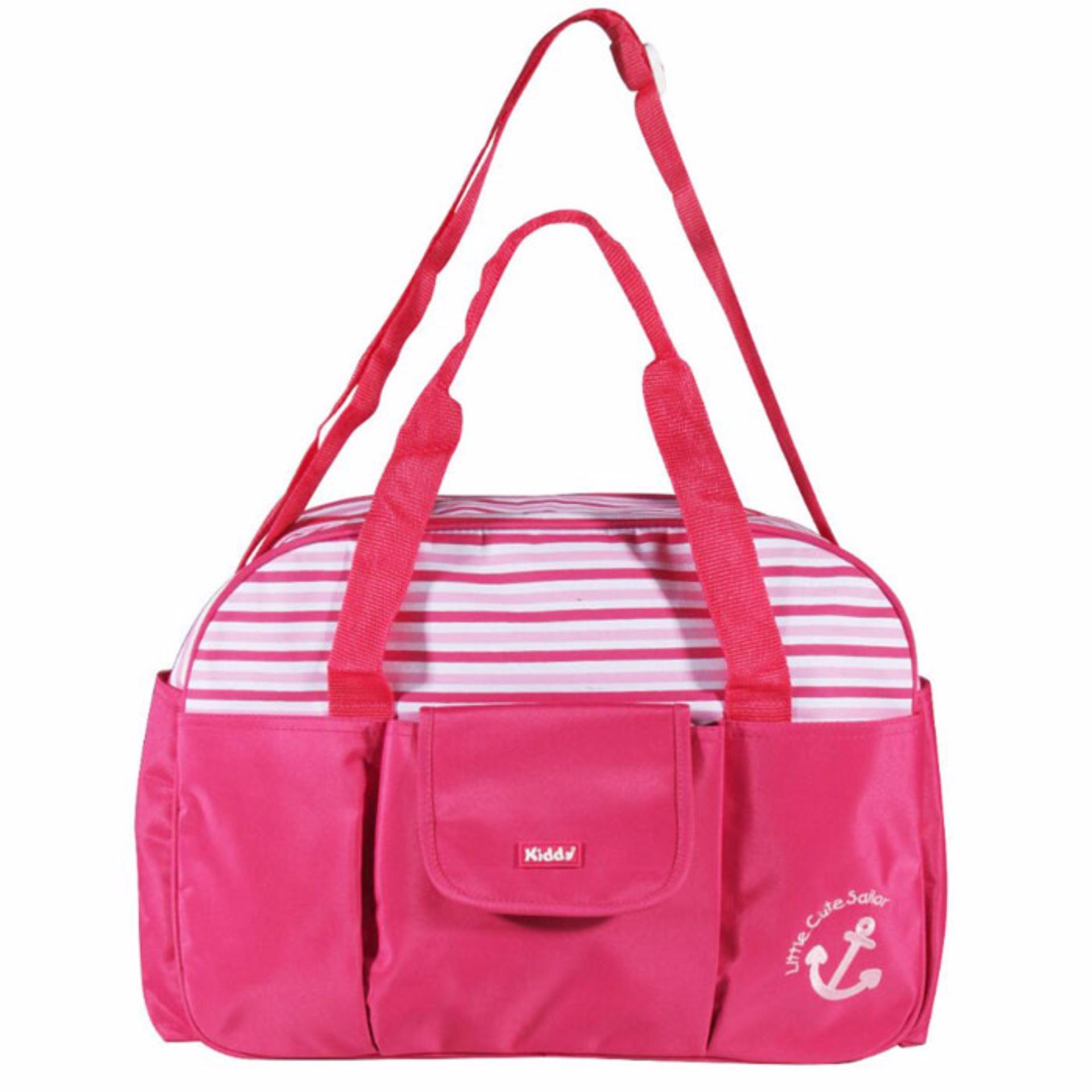 Beli Harga Diskon Baby Leon Paket Ekonomis 11 Perlengkapan Tas Bayi Medium Merk Snooby Tpt1572 Model Kantong Besar Kiddy Diaper Bag Kd5017 Pink