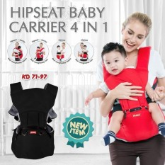 Kiddy Gendongan Bayi Hip Seat Baby Carrier 4in1 Black By Memobi.