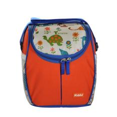 Kiddy Lunch Bag Motif Hewan Orange Biru - Tas Tahan Panas Atau Dingin