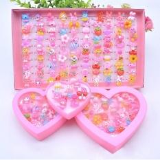 Anak-Anak Berbagai Macam Resin Lucu Akrilik Kertas Cokelat Mainan Dengan Penyimpanan Plastik Kotak Pesta Gadis Hadiah (a Acak) Warna: 100 Pcs/box By Star Mall.