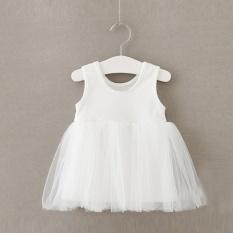 Anak Bayi Perempuan Kapas Gaun Karnaval Musim Semi Musim Panas Putri Gaun Tutu Tanpa Lengan-Intl