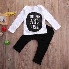 Harga Kids Baby Lengan Panjang T Shirt Tops Celana Set 2 Pcs 18 M Termurah