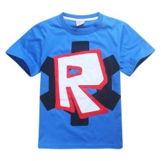 Anak Cosplay Lengan Pendek Cetak Merah Noze Day Kaus Atasan Kostum Anak Pakaian Bayi Laki-laki Perempuan Roblox-Internasional