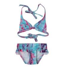 Spesifikasi Kids Girls Floral B*K*N* Soft Beach Pool Swimwear Pakaian Intl Bagus