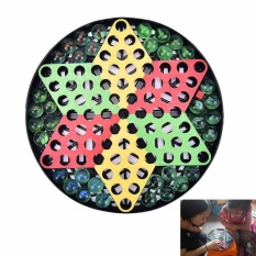 Anak-anak Marbles Glass Jumping Anak Catur Puzzle Baby Toy Jumping Checkers-Intl