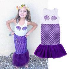 Kids Mermaid Baby Girl Summer Sleeveless Gaun Putri-Intl
