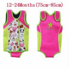 Kids Thermal Swimwear Snorkeling Menyelam Tetap Hangat Swimsuits Swimming Suit Wear Bermain Olahraga Air Aktivitas Kehidupan Anak Float Balita Bayi Boy Gadis Kartun-Intl [Pink]-Intl