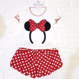 Jual Kim Setelan Baju Bayi Perempuan Lucu Tsm Merah Antik