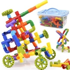Kindergarten Plastic Water Amount Pipe Blocks Early Childhoodeducational Building Blocks Toys Assembled Children 3 To 6 Years Ofage