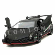 Miliki Segera Lamborghini Veneno Hitam Doff Diecast Miniatur Mobil Mobilan Sport Mainan Anak Cowok Kinsmart