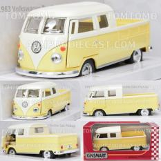 Model Kinsmart Vw Bus Double Cab Pickup Kombi 1963 Diecast Miniatur Mobil Mobilan Volkswagen Klasik Antik Terbaru