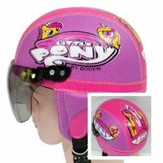 Kiosstore - Helm Anak Lucu Unik Motif Kuda Pony Usia 1 - 4 Tahun Ungu Pink By Kiosstore.