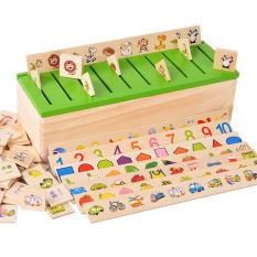 Klasifikasi Kayu Kotak Blok Bangunan Anak Usia Dini Jigsaw Puzzle