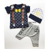 Jual Klik Mds Baju Anak Bayi Setelan Atasan Dan Celana Motif Gg Fashion Free Topi Branded Original