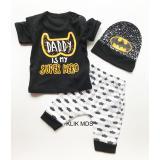 Spesifikasi Klik Mds Baju Anak Bayi Setelan Atasan Dan Celana Motif Karakter Daddy Is My Super Hero Free Topi Dan Harganya