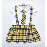 Toko Klik Mds Baju Anak Dress Overall Motif Kotak Online Indonesia