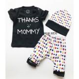 Diskon Klik Mds Baju Anak Setelan Atasan Dan Celana Free Topi Motif Karakter Thank S Mommy