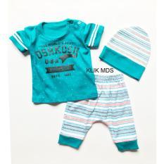 Klik Mds Baju Anak Setelan Atasan dan Celana Motif Karakter Denim Company Free Topi