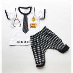 Klik Mds Baju Anak Setelan Atasan dan Celana Motif Karakter Dokter / Mom's Doctor