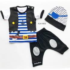 Harga Klik Mds Baju Anak Setelan Atasan Dan Celana Motif Karakter Little Pirates Bajak Laut Free Topi Lengkap